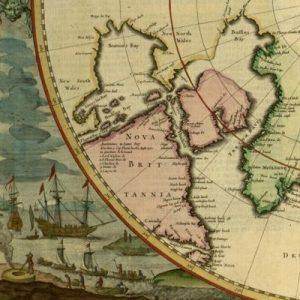 Poli Arctici Et Circumiacentium Terrarum Descriptio Novissima