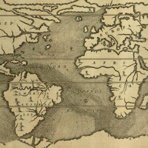 Tabula geographica-hydrographia motus oceani