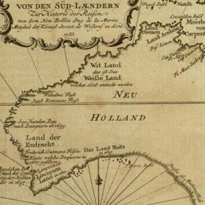 Ins kleine gebrachte karte von den Süd-Lændern : zur Historie der Reisen