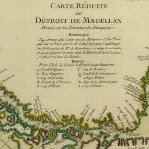 Carte réduite du détroit de Magellan