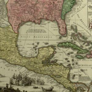 Mappa geographica regionem Mexicanum et Floridam