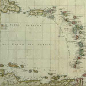 Carta delle Isole Antille