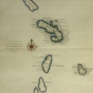 Carte des Antilles Françoises et des isles voisines