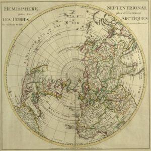 Hemisphere Septentrional pour voir plus distinctement les Terres Arctiques